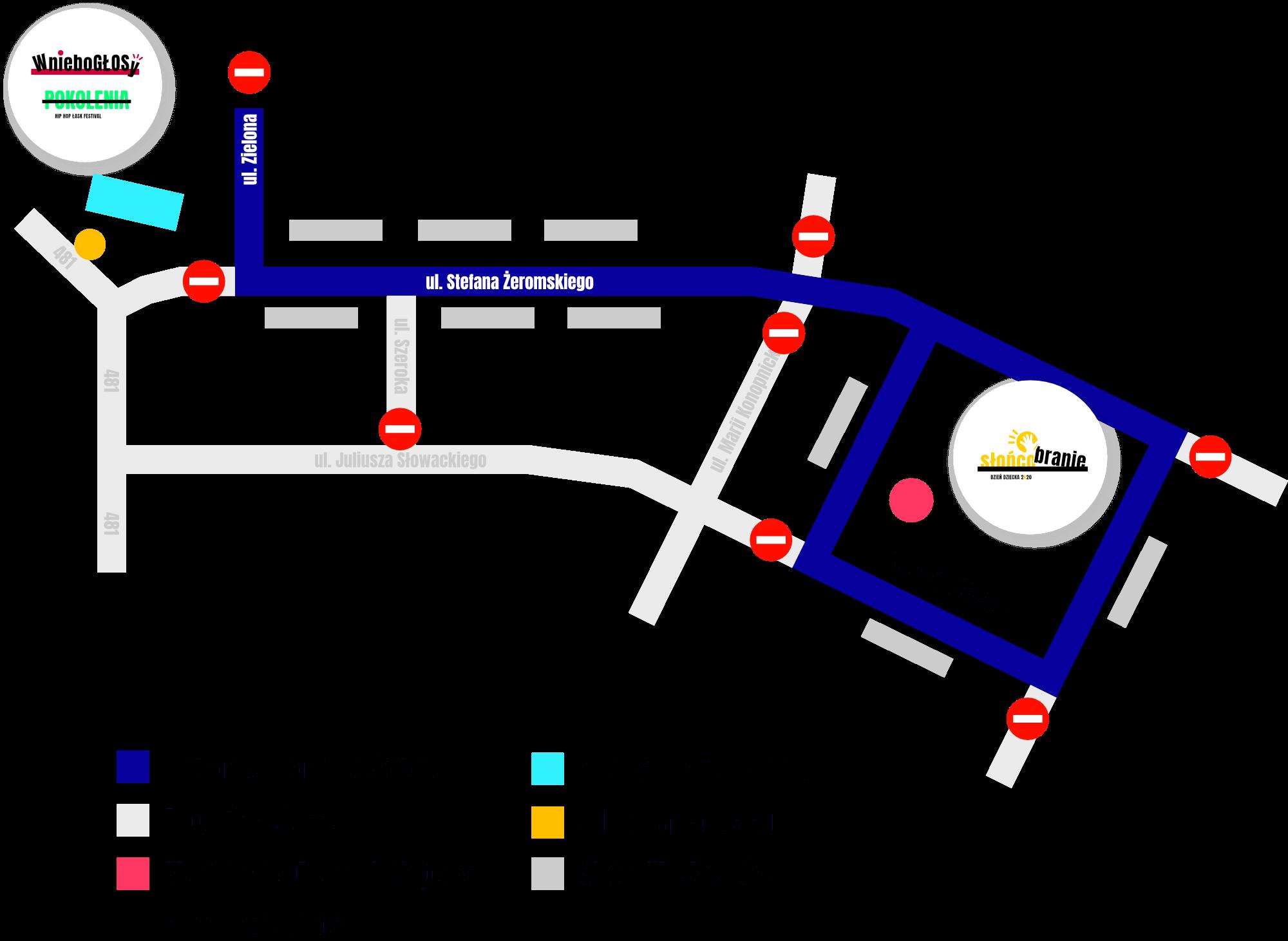 Mapa Jarmarku Łaskiego
